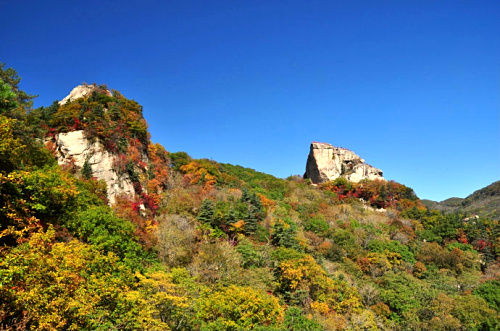 Tianhua Mountain Scenic Area in Liaoning province in China